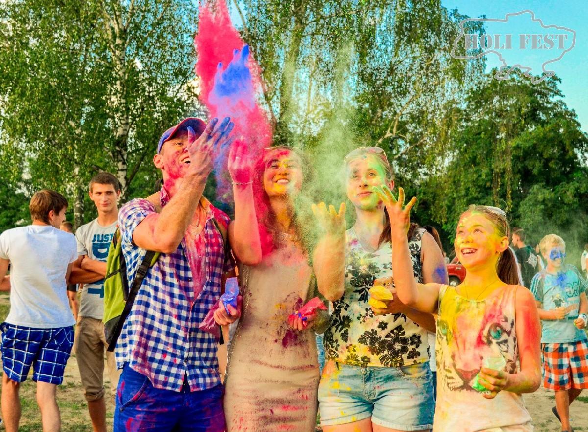 Яркое безумие красок Холи Festival Of Colors Holi в Знаменке!